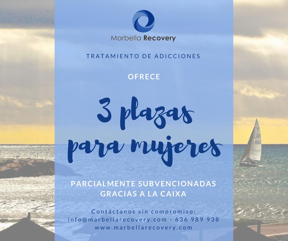 3 plazas para mujeres subvencionadas en Marbella Recovery