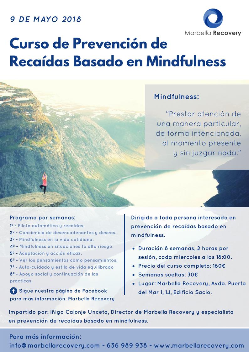 Curso de Prevención de Recaídas Basada en Mindfulness